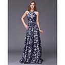 זול שמלות שושבינה-גזרת A עם תכשיטים עד הריצפה ג'רסי ערב רישמי שמלה עם חרוזים על ידי TS Couture®