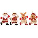 お買い得  クリスマスデコレーション-ホリデーデコレーション クリスマスデコレーション クリスマスオーナメント 装飾用 レッド 4本