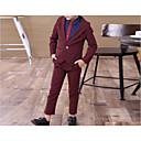 זול מצלמות חוץ רשת IP-בורגנדי / נייבי כהה כותנה חליפה לנושא הטבעת  - 1set כולל ג'קט / Pants / אביזרים