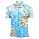 זול חולצות רכיבת אופניים-גראפי צווארון קלאסי בסיסי כותנה, חולצה - בגדי ריקוד גברים דפוס פול / שרוולים קצרים