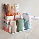 זול מחזיק מברשות שיניים-מחזיק למברשת שיניים יצירתי / רב שימושי עכשווי פליז 3pcs מותקן על הקיר