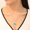 זול שרשראות-בגדי ריקוד נשים שרשרת Chrome כחול 45 cm שרשראות תכשיטים 1pc עבור מתנה קרנבל רחוב חגים