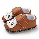 זול נעלי ספורט לילדים-בנים / בנות צעדים ראשונים PU נעלי ספורט תינוקות (0-9m) / פעוט (9m-4ys) שחור / חום / אפור בהיר אביב / סתיו / גומי