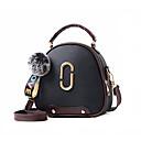halpa Crossbody-laukut-Naisten Vetoketjuilla PU Yliolanlaukku Yhtenäinen väri Musta / Viini / Punastuvan vaaleanpunainen / Syystalvi