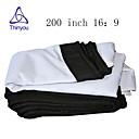 זול אביזרים למקרנים-16:9 200 אִינְטשׁ PVC מאקס לבן מסך על מעמד מהקיר