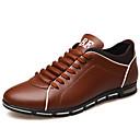 זול נעלי ספורט לגברים-בגדי ריקוד גברים נעלי נוחות עור אביב קיץ בריטי נעלי אתלטיקה ללבוש הוכחה שחור / צהוב / אדום