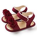 זול סנדלים לילדים-בנות צעדים ראשונים קנבס סנדלים תינוקות (0-9m) / פעוט (9m-4ys) אפור / ורוד / אדום כהה קיץ