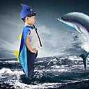 זול קופסאות טלוויזיה-ערפדים Shark כובעים גלימה נשף מסכות בגדי ריקוד ילדים בנים קוספליי חג ליל כל הקדושים חג המולד האלווין (ליל כל הקדושים) קרנבל פסטיבל / חג בד כחול תחפושות קרנבל טלאים