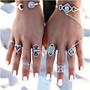levne Prsteny-Dámské Kubický zirkon Sada kroužků Evropský Fashion Ring Šperky Stříbrná Pro Svatební 8ks