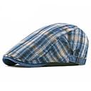זול תחפושות מבוגרים-כל העונות פול לבן יין כובע עם שוליים רחבים פסים כותנה פשתן שנות ה-30 יוניסקס