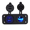 זול רכב הגוף קישוט והגנה-מטען לרכב 2 יציאות USB עבור 5 v