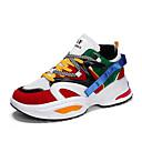 זול נעלי ספורט לגברים-בגדי ריקוד גברים נעלי קלונקי רשת אביב / סתיו נעלי ספורט נושם לבן / שחור / קשת