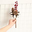 זול פרחים מלאכותיים-פרחים מלאכותיים 1 ענף קלאסי וינטאג' פסטורלי סגנון צמחים פרחים נצחיים פרחים לשולחן