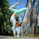 זול ביגוד כושר, ריצה ויוגה-בגדי ריקוד נשים מכנסי יוגה קולור בלוק תחתיות לבוש אקטיבי רך מיקרו-אלסטי
