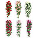 זול פרחים מלאכותיים-פרחים מלאכותיים 1 ענף קלאסי חתונה ארופאי ורדים פרחים נצחיים פרחים לקיר