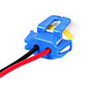 זול כלים לאפייה-2pcs 9006 נקבה מחבר שקע קרמי תקע הפנס רתמת החיווט חוט שקע עם קו