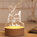 זול אורות 3D הלילה-1pc אור תלת ממדי לבן חם USB יצירתי <=36 V