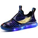 זול LED Shoes-בנים / בנות נעליים זוהרות PU נעלי ספורט ילדים קטנים (4-7) / ילדים גדולים (7 שנים +) הליכה LED שחור / אדום / כחול סתיו / חורף / 3D / גומי