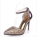 זול נעלי עקב לנשים-בגדי ריקוד נשים PU קיץ & אביב עקבים עקב סטילטו לבן / שחור / כחול