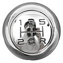 זול מפסקים לרכב-5 מהירות כרום mt הילוך כפתור הילוכים לפז'ו 106 206 207 306 307 407 408 508