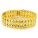 זול הנעלה ואביזרים-בגדי ריקוד גברים זהב שרשרת וצמידים גיאומטרי אינסוף אתני פליז צמיד תכשיטים זהב עבור יומי