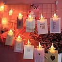 זול חוט נורות לד-4m צילום קליפ הוביל מחרוזת אורות כוכב בצורת 20 מדים חם לבן חג המולד זר פרחים חתונה חג האהבה קישוט 3v 1set