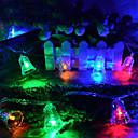 זול כלים לאפייה-5m חוטי תאורה 50 נוריות צבעוני דקורטיבי 220-240 V 1set