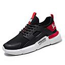 hesapli Kadın Sneakerları-Kadın's Atletik Ayakkabılar Düz Taban Yuvarlak Uçlu Örümcek Ağı Koşu / Yürüyüş Yaz Beyaz / Siyah / Kırmzı