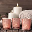 halpa Kynttilät ja kynttilänjalat-Moderni nykyaikainen / minimalistisesta lasi / Lasi Kynttilänjalat Kynttilälyhty / Kynttelikkö 12kpl, Kynttilä / kynttilänjalka