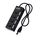 povoljno USB razdjelnici i sklopke-cooho 4 port micro usb hub 2.0 usb razdjelnik velike brzine 480mbps usb 2.0 hub s uključeno / isključeno za tablet prijenosno računalo