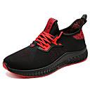 hesapli Erkek Atletik Ayakkabıları-Erkek Ayakkabı Örgü / Tissage Volant İlkbahar yaz / Sonbahar Kış Sportif / Çıtı Pıtı Atletik Ayakkabılar Koşu / Yürüyüş Günlük / Dış mekan için Siyah / Beyaz / Siyah / Kırmızı