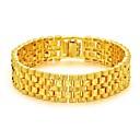 billige Herrekjeder-Herre Kjeder & Lenkearmbånd Elegant Kreativ Mote Dubai 18K Gull Armbånd Smykker Gull Til Fest Daglig