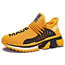 hesapli Erkek Atletik Ayakkabıları-Erkek Ayakkabı Tissage Volant Bahar / Sonbahar Atletik Ayakkabılar Koşu Günlük için Siyah / Beyaz / Sarı