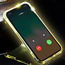 זול מקרנים-iPhone x / xs / xs max / xr / 7 / 7s / 8 / 8plus מקרה הטלפון שקוף הוביל פלאש אור להזכיר שיחה נכנסת כיסוי מסוגנן