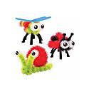 זול אורות קיר Flush Mount-יצירתי דגם גיאומטרי פלסטיק ומתכת לילד כל צעצועים מתנות
