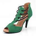povoljno Cipele za latino plesove-Žene Plesne cipele Eko koža Cipele za latino plesove Štikle Tanka visoka peta Moguće personalizirati Zelen / Seksi blagdanski kostimi / Koža / Vježbanje
