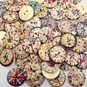 halpa Käsityöt ja ompelu-50kpl PF bakeliittia Buttons Snaps Tulostus Vintage / Universal Vintage tyyli / nappi Clothing Accessories