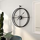 """זול שעוני קיר-מודרני עכשווי ארופאי מתכת אל חלד לֹא סָדִיר בבית 24"""" x 20"""" (60cm x50cm)"""