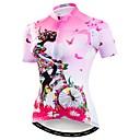 povoljno Biciklističke majice-WEIMOSTAR Žene Kratkih rukava Biciklistička majica Pink Cvjetni / Botanički Bicikl Biciklistička majica Majice Prozračnost Ovlaživanje Quick dry Sportski Poliester Elastan Terilen Brdski biciklizam