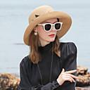 זול מברג-סיב טבעי כובעי קש עם קפלים 1pc קזו'אל / לבוש יומיומי כיסוי ראש