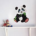halpa Seinätarrat-söpö panda gnawing bambu seinä tarra lasten huone lastentarha olohuone makuuhuone irrotettava tapetti tarra