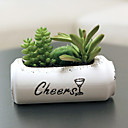 זול צמחים מלאכותיים-פרחים מלאכותיים 1 ענף קלאסי מודרני עכשווי פסטורלי סגנון צמחים עסיסיים פרחים לשולחן