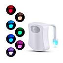 halpa Smart Valot-liiketunnistin WC-istuimen yövalo 8 väriä wc-istuimen wc-WC-valolle