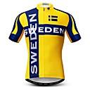 hesapli Bisiklet Formaları-WEIMOSTAR Erkek Kısa Kollu Bisiklet Forması Sarı Bisiklet Tracksuit Forma Üstler Nefes Alabilir Spor Dalları Polyester Elastane Terylene Dağ Bisikletçiliği Yol Bisikletçiliği Giyim / Mikro-Esnek