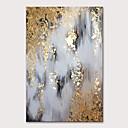 זול ציורים מופשטים-ציור שמן צבוע-Hang מצויר ביד - מופשט אומנות פופ מודרני ללא מסגרת פנימית