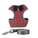 זול אדים Atomizers-כלבים חתולים רתמות בגדים לכלבים משובץ / משבצות אדום כחול ורוד רשת ניילון תחפושות עבור כל העונות מקרי / ספורטיבי