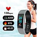 Недорогие Умные браслеты-Смарт-браслет смарт-браслет монитор сердечного ритма водонепроницаемый фитнес-трекер Bluetooth ремешок для часов для Android IOS женщины мужчины браслет