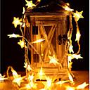זול רכב הגוף קישוט והגנה-6m כוכב אורות 40 מדים חם לבן / צבע שינוי מסיבת החתונה חג המולד קישוט aa סוללות מופעל 1pc