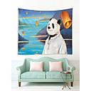 זול מזכרות נרות-נושא קלאסי / נושא אגדות קיר תפאורה 100% פוליאסטר מודרני וול ארט, קיר שטיחי קיר תַפאוּרָה