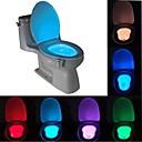 abordables Offres de la Semaine-brelong 1 pc 8 couleurs capteur de mouvement humain pir toilette veilleuse